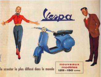 Publicité Vespa Vintage